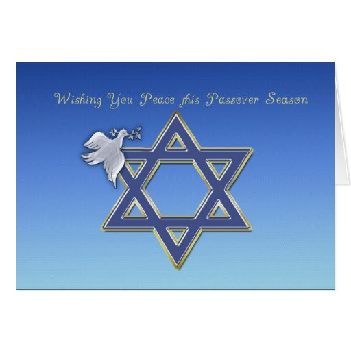 Passover Dove Star Greeting Cards