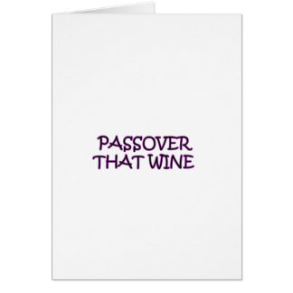 PASSOVER GREETING CARD