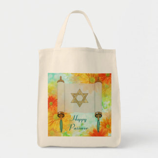 Passover Greetings Grocery Tote Bag