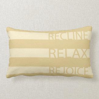 "Passover Lumbar Pillow ""Recline, Relax, Rejoice"""