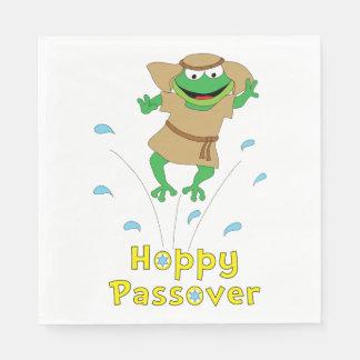"Passover Napkins Standard ""Hoppy Passover"" Paper Napkins"