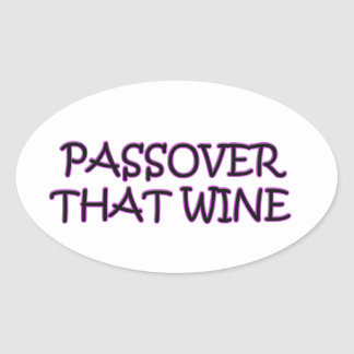 PASSOVER OVAL STICKER