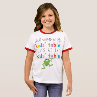 """Passover """"Passover Kids' Table"""" Girl's T-Shirt"""
