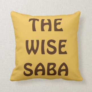 "PASSOVER PESACH PILLOW FOR GRANDPA ""THE WISE SABA"" CUSHION"