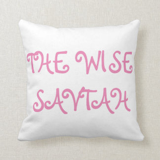 "PASSOVER PESACH SEDER PILLOW ""THE WISE SAVTAH"""