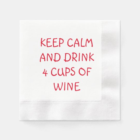 PASSOVER SEDER NAPKINS KEEP CALM AND DRINK 4 CUPS PAPER NAPKINS