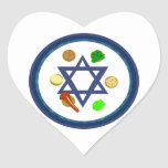 Passover Seder Plate Heart Stickers