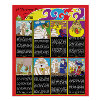 """Passover Story Poster 20"""" x 24"""" Matte Finish"""