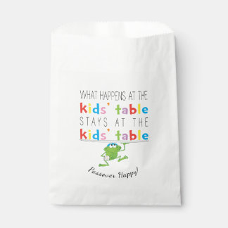 """Passover """"The Kids'Table"""" Goodie Favour Bag Favour Bags"""