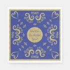 Passover White Standard Napkins Gold Elegant Disposable Serviette