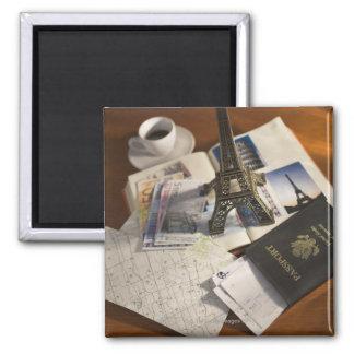 Passport and memorabilia magnet