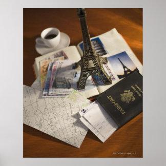 Passport and memorabilia poster