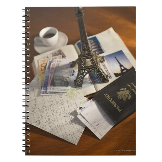 Passport and memorabilia spiral notebook