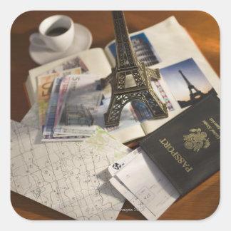 Passport and memorabilia square sticker