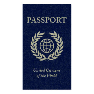 passport Double-Sided standard business cards (Pack of 100)
