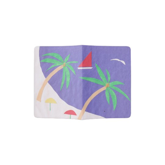 Passport Cover with Beach Scene