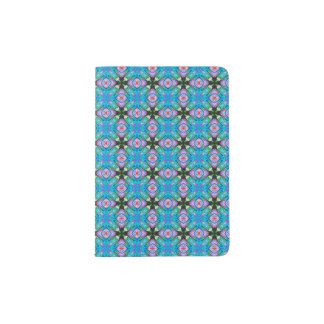 Passport Holder with Lt. Blue Kaleidoscope design