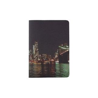 Passport Holder with Urban Night Photography