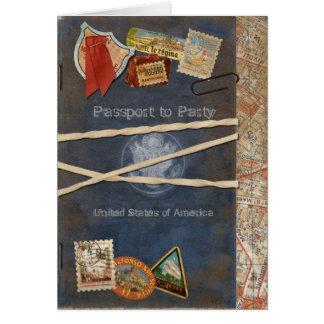 Passport Invitation Note Card