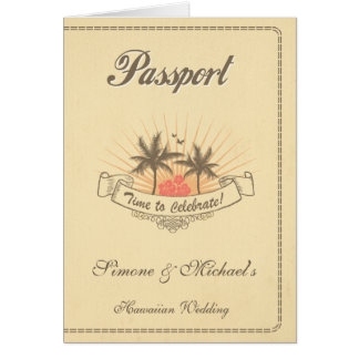 Passport Invitation or Save-the-Date - Beach