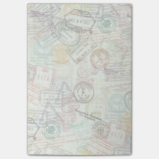 Passport Stamp Print Post-It Note