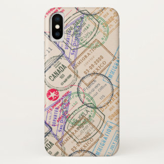 Passport Stamps Travel iPhone X Case