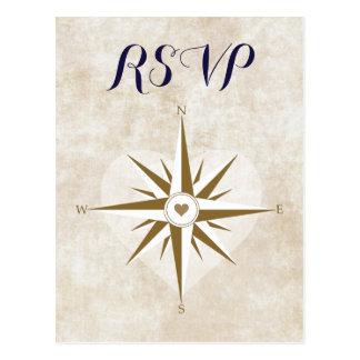 Passport Travel RSVP Postcard Destination Wedding