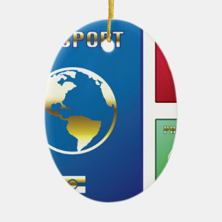Passports Vector blue red green Ceramic Oval Decoration