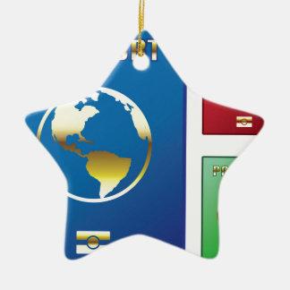 Passports Vector blue red green Ceramic Star Decoration