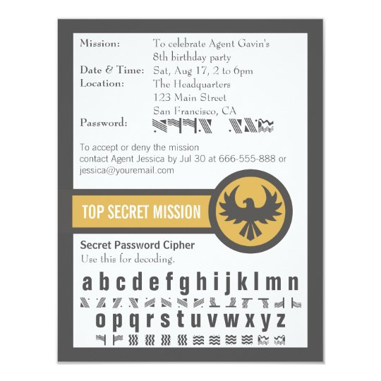 Password secret agent birthday party card zazzle password secret agent birthday party card filmwisefo Image collections