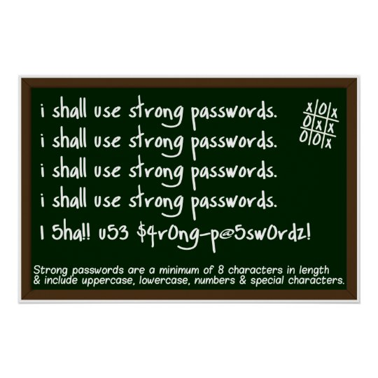 Passwords Information Security Awareness Poster