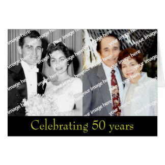 Past and Present Golden Anniversary Note Card