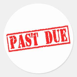 past due labels