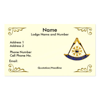 Past Master Profile Business Card