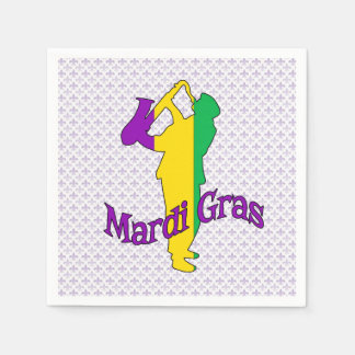 Past Present Future Mardi Gras Party Paper Napkins