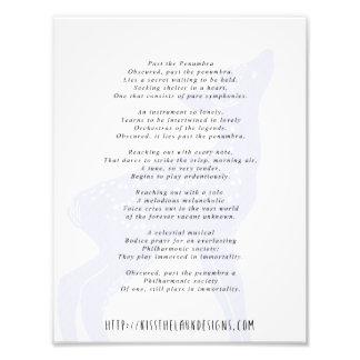 Past the Penumbra - 8.5 x 11 Poetry Printable Photo Art