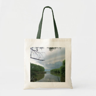 Past the storm to the sea canvas bag