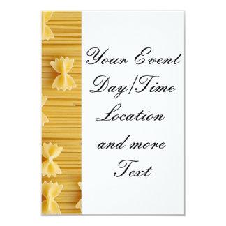 pasta 9 cm x 13 cm invitation card