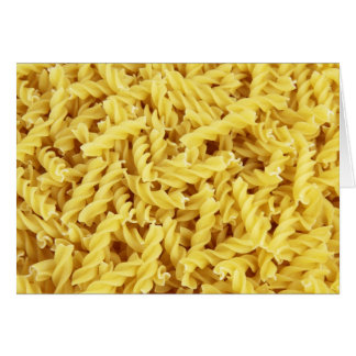 Pasta Background Greeting Card