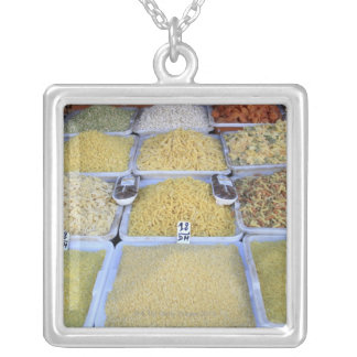 Pasta, Cereal, Basket, Italian Food, Market Silver Plated Necklace