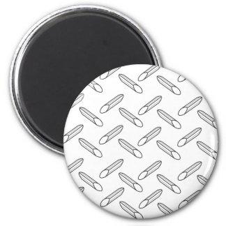 pasta 6 cm round magnet