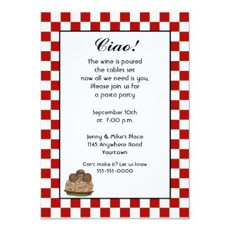Pasta Party Invitation