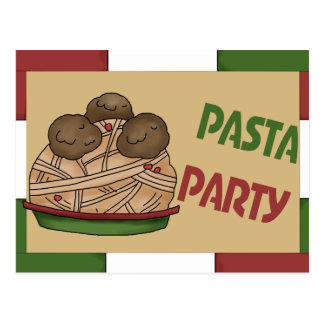 Pasta Party Invitation Postcards
