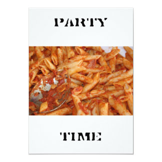 Pasta  PARTY TIME Invitation