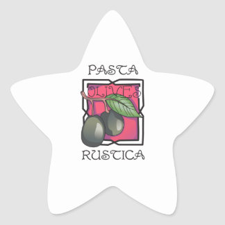 Pasta Rustica Star Sticker