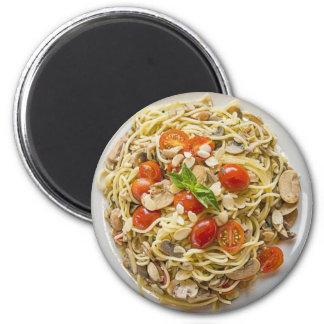 Pasta, Tomatoes, Mushroom Plate Magnet