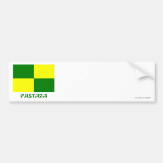 Pastaza flag with Name Bumper Sticker