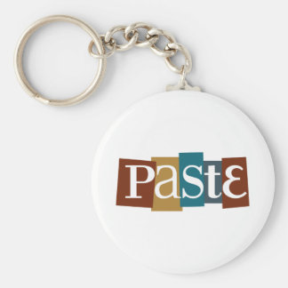 Paste Block Logo Color Basic Round Button Key Ring