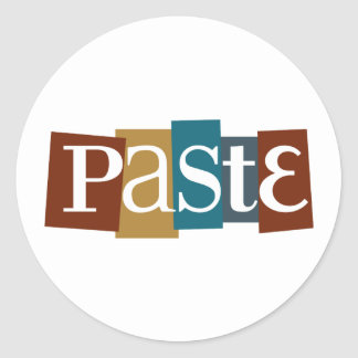 Paste Block Logo Color Round Sticker