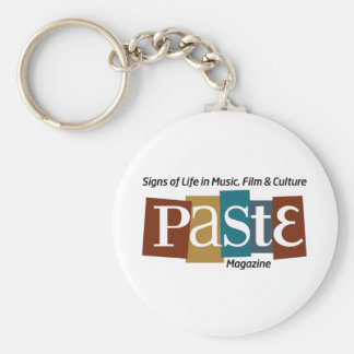 Paste Block Logo Mag and Tag Color Basic Round Button Key Ring